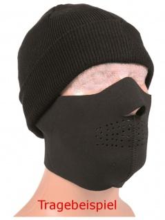 Neopren Gesichtsschutz Maske schwarz