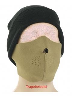 Neopren Gesichtsschutz Maske schwarz coyote tan wendbar