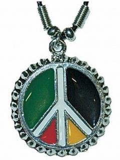 Halskette Peace bunt