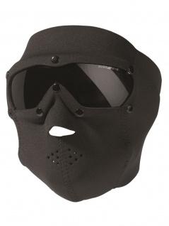 Gesichtsschutz Neopren schwarz mit Brille getönt
