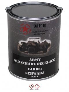 Militär Farbdose Army 1 Liter schwarz