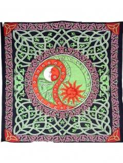 Tagesdecke Yin Yang rot 220 x 220 cm