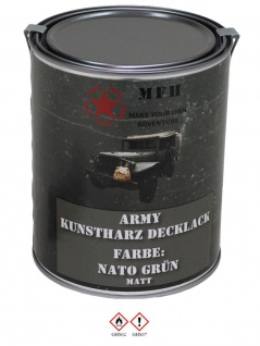 Militär Farbdose Army 1 Liter NATO grün