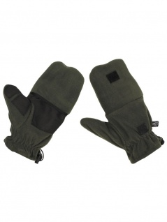Fleece Faust Finger Handschuhe oliv