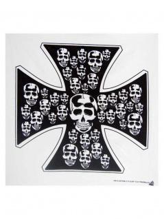 Bandana Eisernes Kreuz mit Totenköpfe