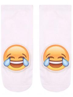 Sneaker Socken bedruckt Emoji lachend - Vorschau 2