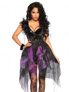 Verführerisches Hexen Kostüm schwarz lila
