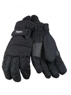 Thermo Handschuhe mit Strickbund schwarz