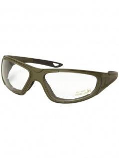 Biker Goggle Sportbrille mit Ersatzgläser oliv