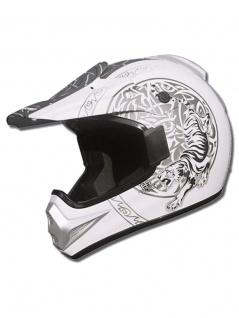 Marushin Helm XMR Tiger flat white