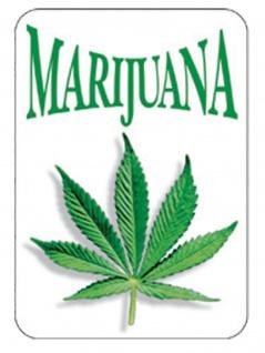 3 Aufkleber Marijuana