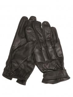Quarzsand Leder Handschuhe schwarz