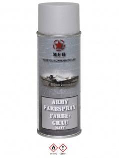 Militär Lack Spraydose grau matt