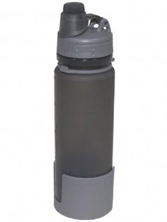 Faltbare Trinkflasche Silikon 0, 5 l grau