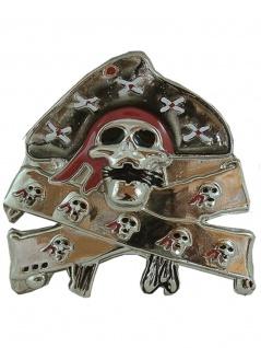 Gürtelschnalle Piraten Skull