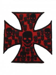 Aufnäher Eisernes Kreuz rot
