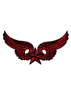Aufnäher Flügel mit Stern