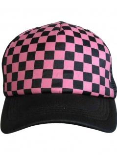 Trucker Cap Schachbrettmuster pink