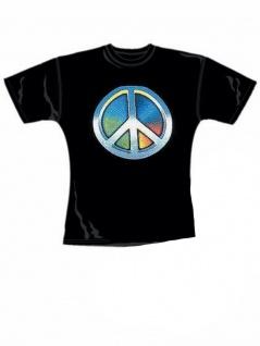 Girl T-Shirt Peace bunt