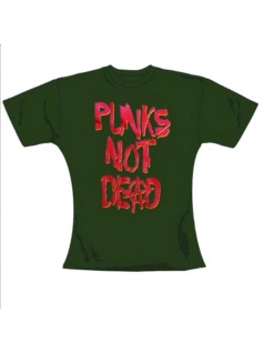 T-Shirt Punks not Dead 2 in oliv