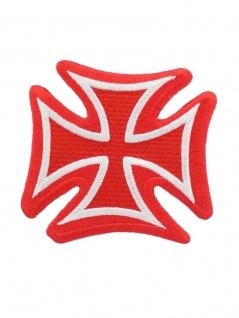 Aufbügler Eisernes Kreuz rot