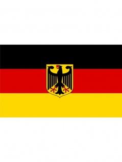 Fahne Deutschland mit Wappen