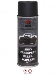 Militär Lack Spraydose schwarz matt