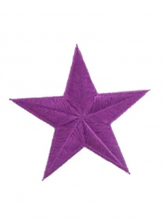 Aufbügler Stern lila