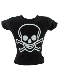 Kinder T-Shirt Totenkopf schwarz
