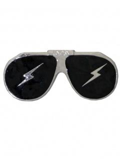 G?rtelschnalle Brille schwarz