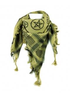 PLO Tuch Pentagramm grün