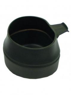 Kunststoff Faltbecher oliv