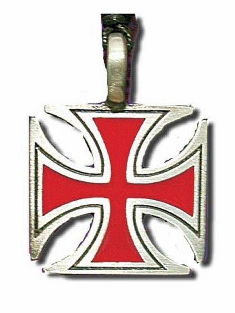 Gothic Halskette Eisernes Kreuz Rot