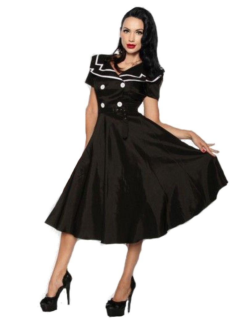 Kleid rockabilly schwarz