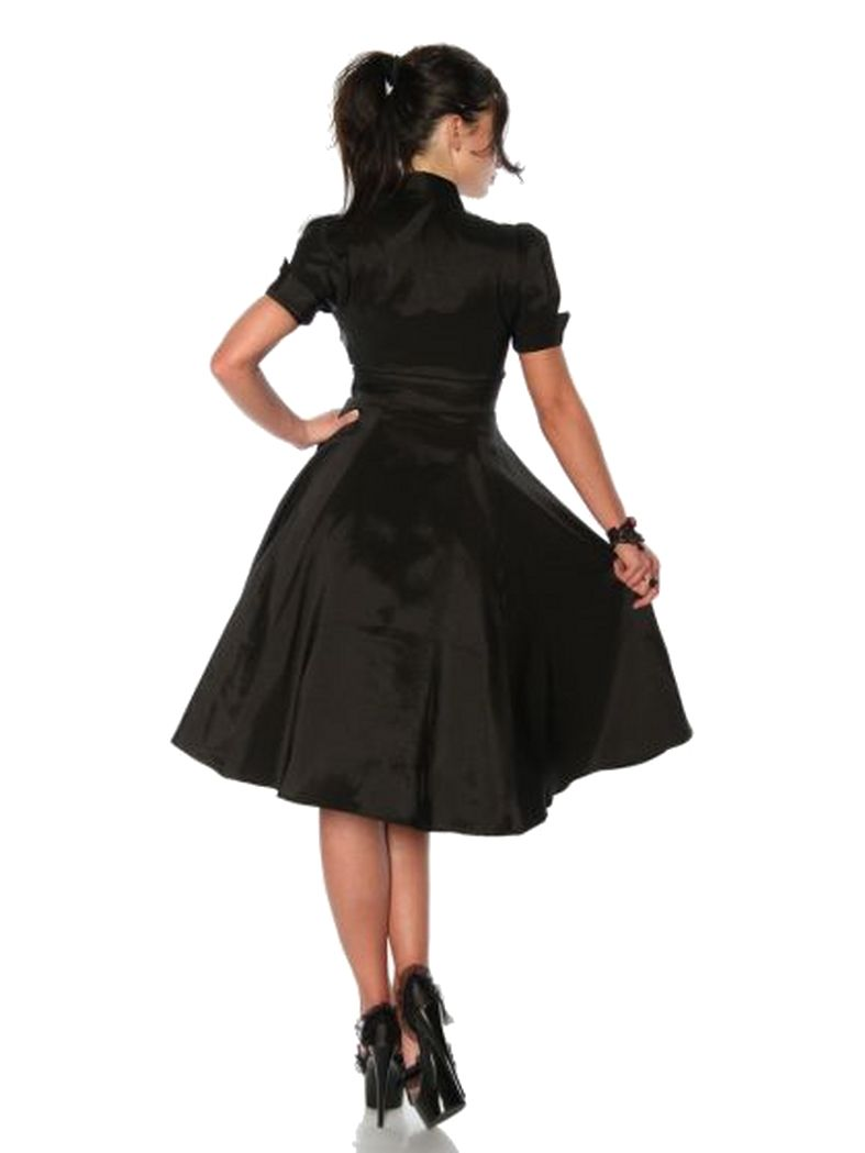 Petticoat Rockabilly Kleid schwarz burgund   Kaufen bei Armardi ...