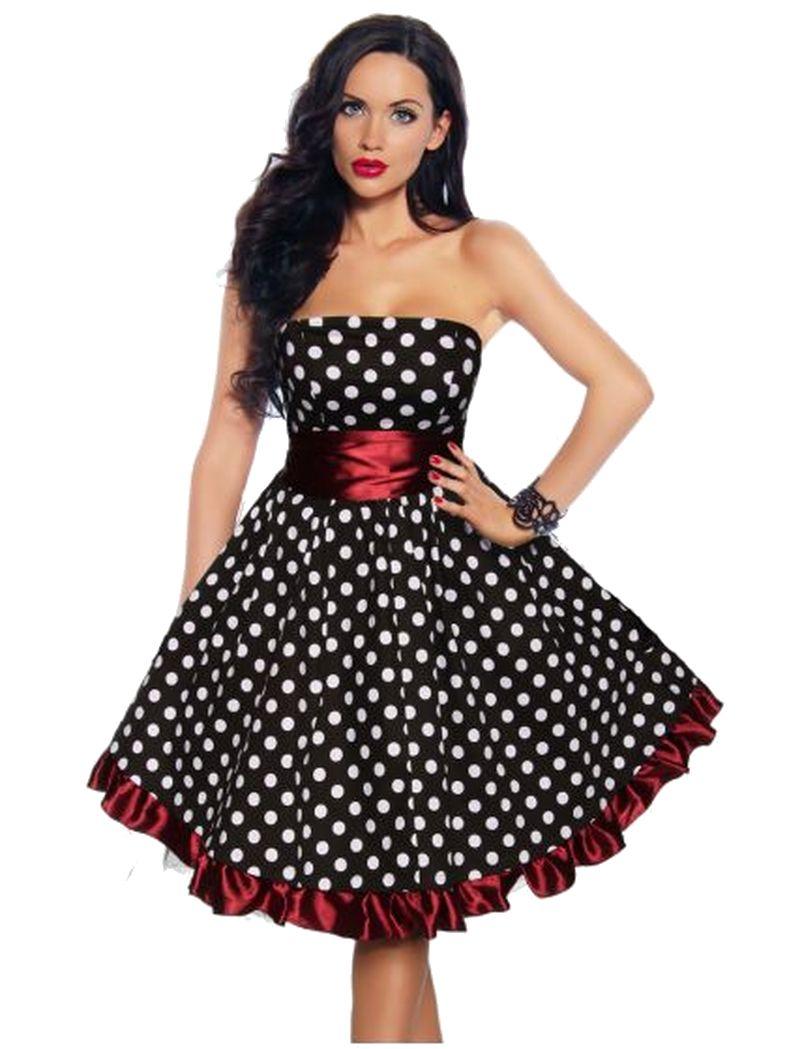 Rockabilly kleid rot petticoat