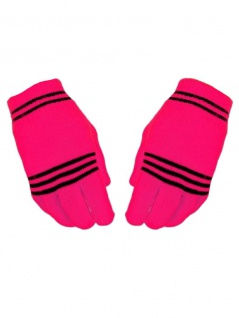 Handschuhe neon pink stripes