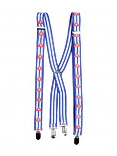 Hosenträger blau weiße Streifen