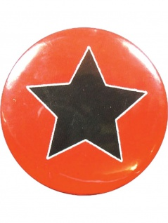 Button Stern schwarz