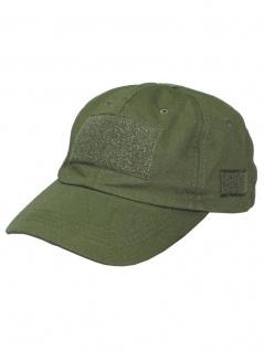 Baseball Einsatz Cap oliv mit Klett