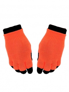 Multi Handschuhe neon orange 2 in 1