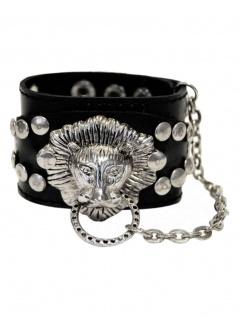 Kunstleder Armband Löwe