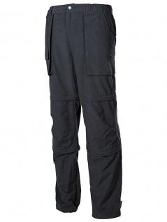 Multifunktionshose schwarz mit 3/4-Hose