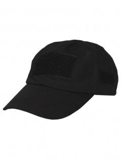 Baseball Einsatz Cap schwarz mit Klett