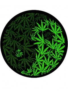Aufnäher Yin Yang Marijuana
