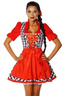 Oktoberfest Dirndl rot weiß kariert
