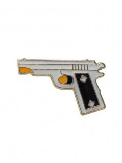 Anstecker Pin Pistole silber