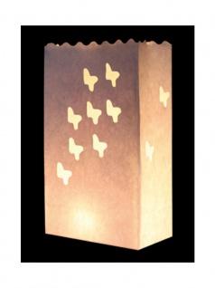 Kerzen Lichttüte Schmetterlinge
