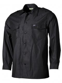 US Langarm Outdoor Hemd schwarz