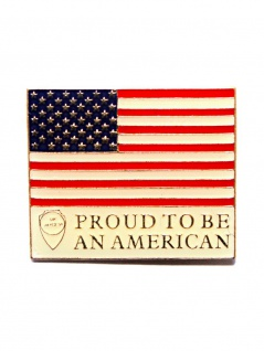 Anstecker Pin Proud to be an American